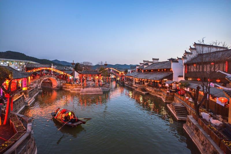 Village Chine de l'eau de Jiangnan photos stock