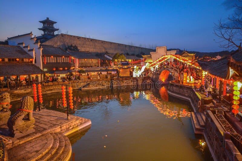 Village Chine de l'eau de Jiangnan photo stock
