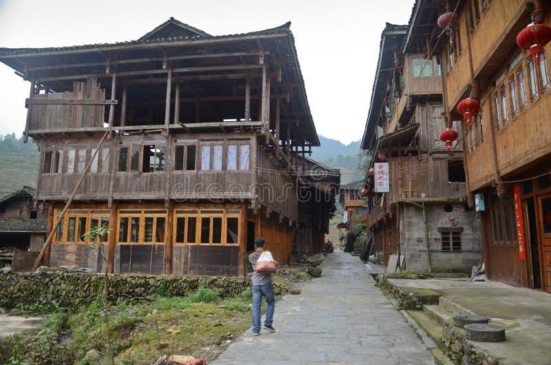 Village chinois de minorité photographie stock
