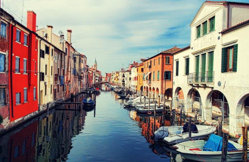 Village of Chioggia stock photography