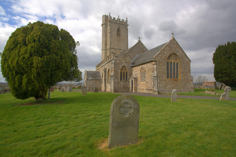 Village church with tower royalty free stock photos