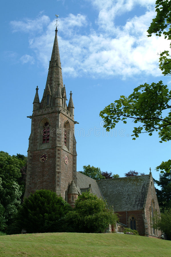 Download Village Church, Stowe, Scotland Stock Photo - Image: 177856