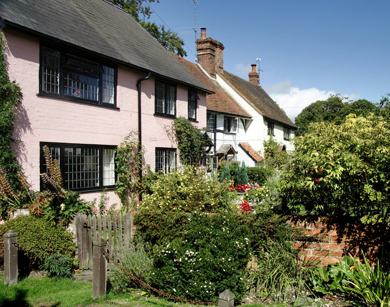 Village Cottages royalty free stock images