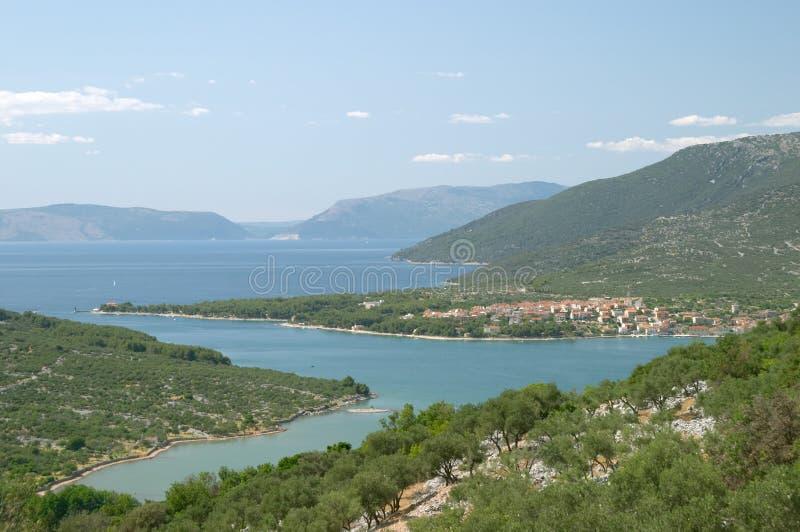 Village of Cres, Dalmatia, Croatia stock images