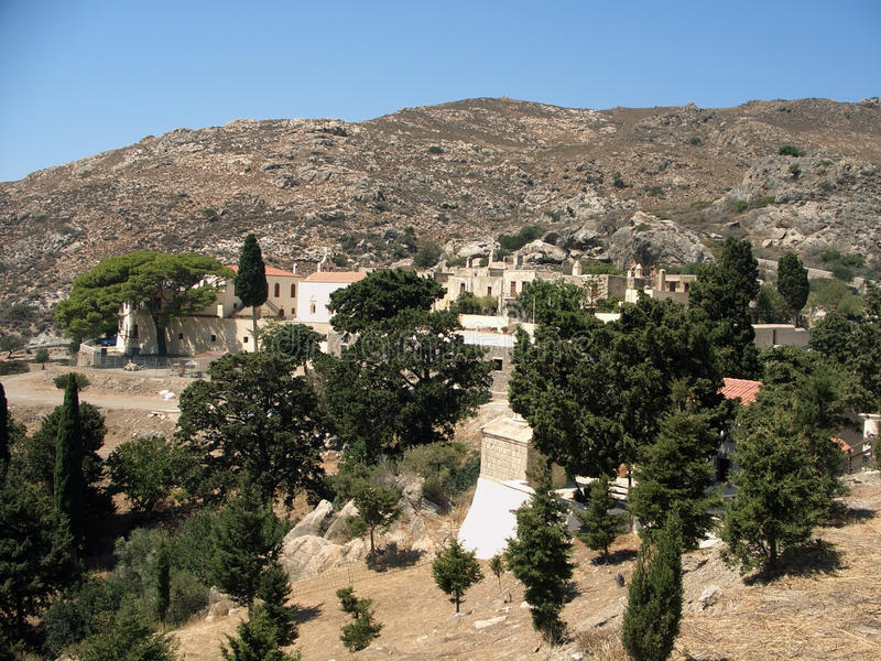 Download Village in Crete mountains stock photo. Image of arid - 25140888