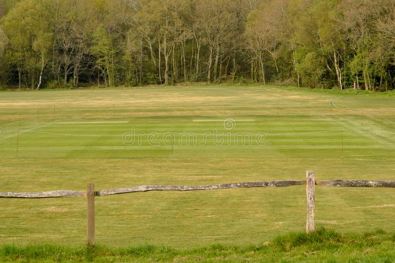 Village Cricket Green, Henfield Common stock photo