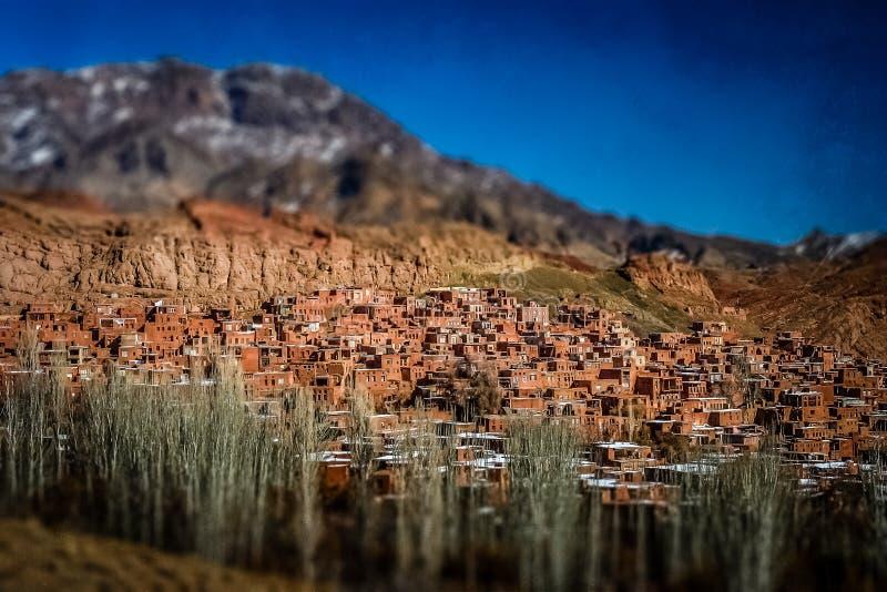 Village d'Abyaneh photo stock