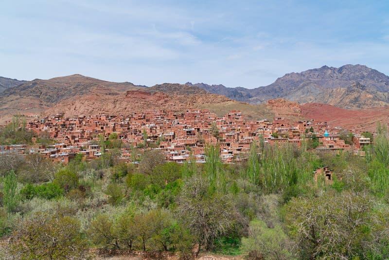 Village d'Abyaneh dans Kashan, Iran images libres de droits