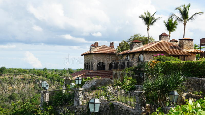 Village d'Altos de Chavon en La Romana photo stock