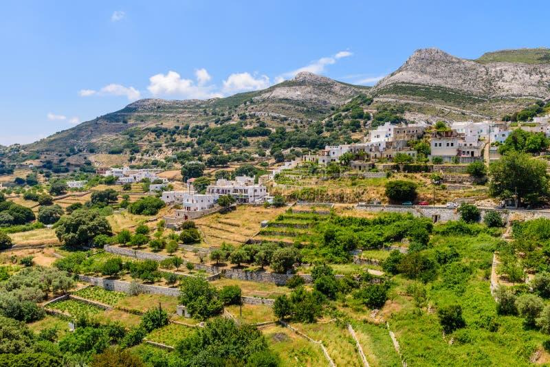 Village d'Apiranthos photographie stock libre de droits