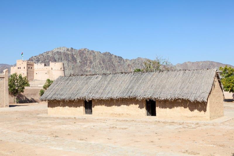 Village d'héritage au Foudjairah image libre de droits