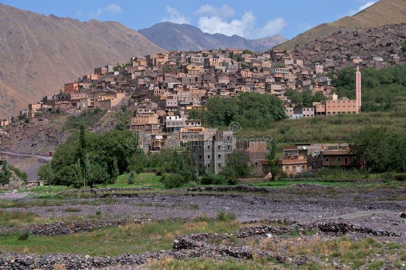 Village d'Imlil Maroc photos libres de droits
