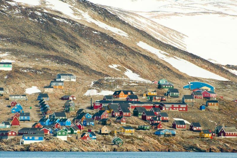 Village d'Ittoqqortoormiit photos libres de droits