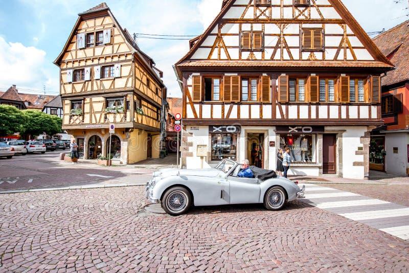 Village d'Obernai dans les Frances photographie stock libre de droits