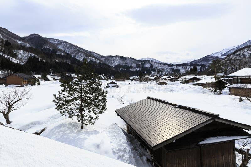 Village d'Ogimachi photo stock