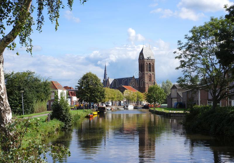 Village d'Oudewater, Pays-Bas photographie stock