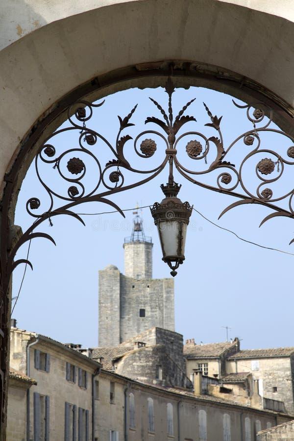Village d'Uzes, Provence ; France images stock