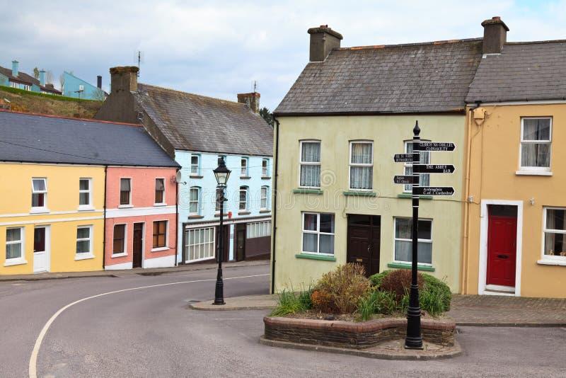Village dans le liège occidental, Irlande photographie stock libre de droits