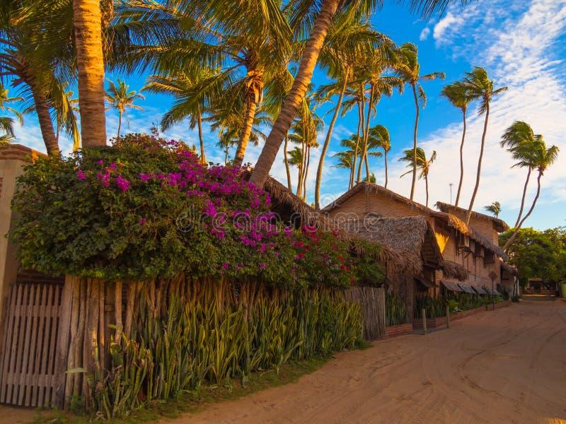 Village dans le sable photographie stock libre de droits