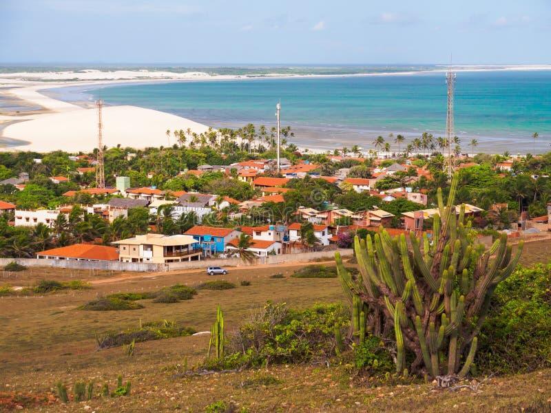 Village dans le sable photo stock