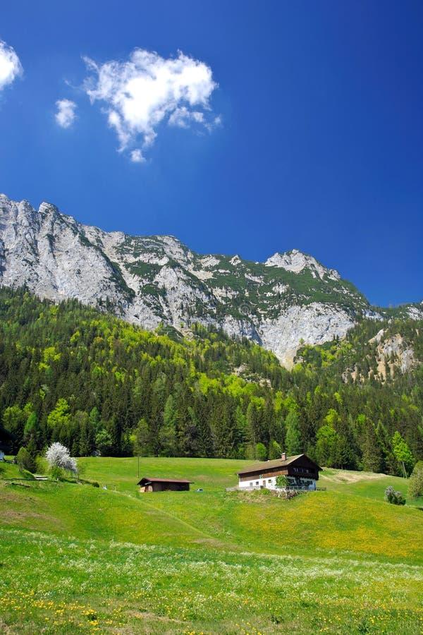 Village dans les Alpes de l'Allemagne photo libre de droits