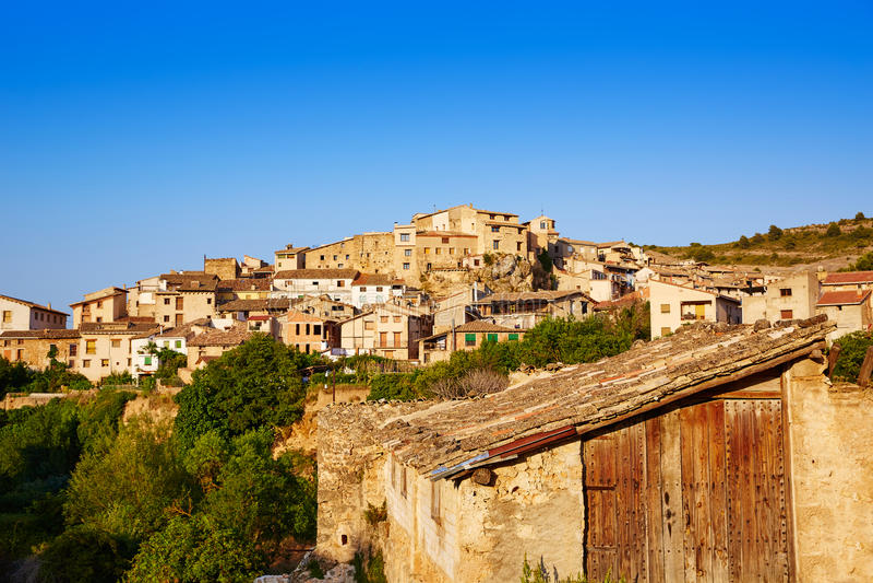 Village de Beceite à Teruel Espagne dans Matarrana photo libre de droits