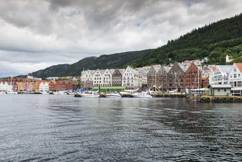 Village de Bergen en Norvège photographie stock libre de droits