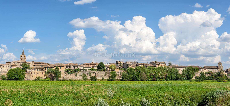 Village de Bevagna et de x28 ; Umbria& x29 ; photo libre de droits