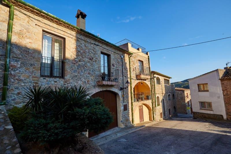 Village de Biure, Gérone, Espagne photo libre de droits