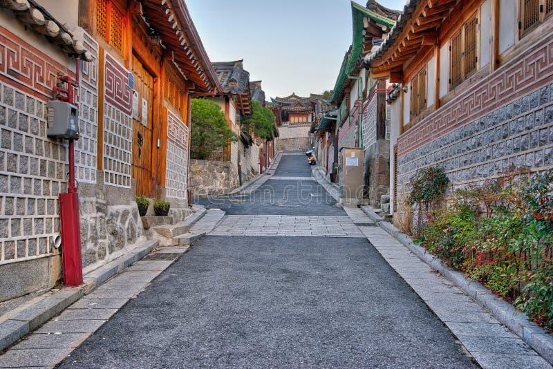 Village de Bukchon Hanok à Séoul, Corée du Sud photos libres de droits