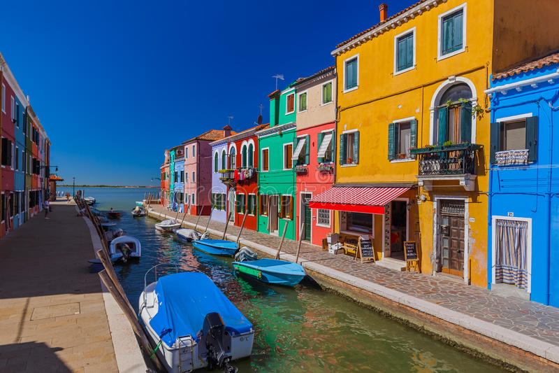 Village de Burano - Venise Italie images libres de droits