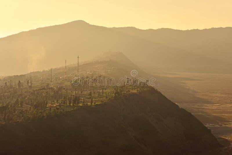 Village de Cemoro Lawang en parc national de Bromo Tengger Semeru photos libres de droits