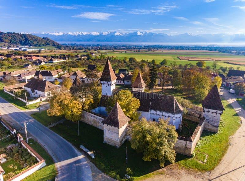 Village de Cincsor Saxon en Transylvanie Roumanie image stock