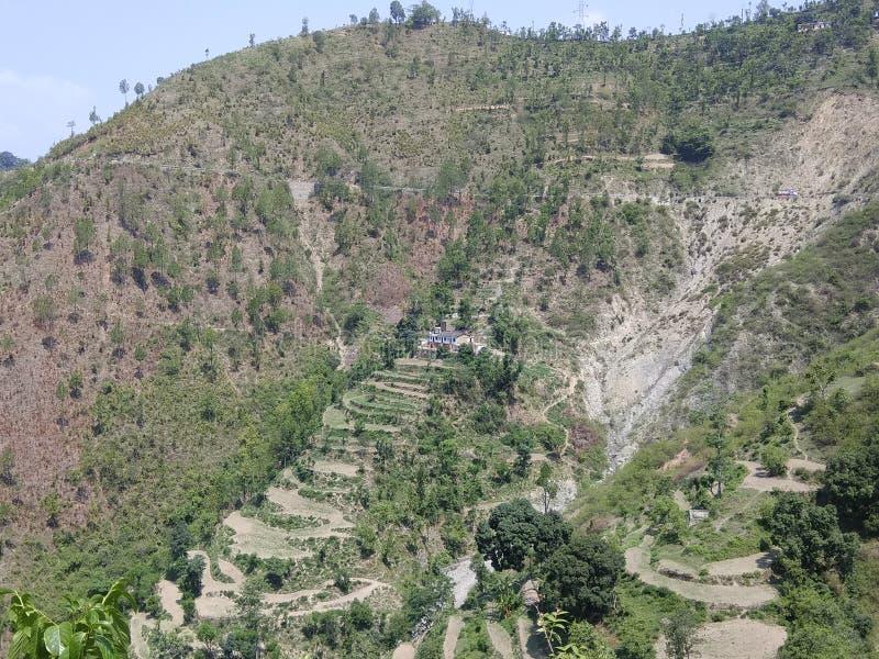 Village de colline images libres de droits