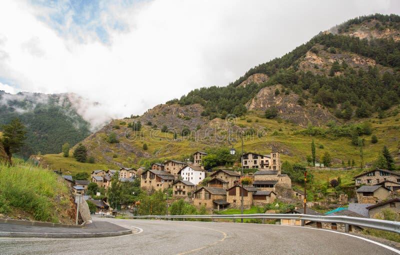 Village de copain en Andorre photo libre de droits