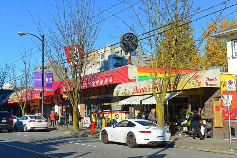 Village de Davie, Vancouver, AVANT JÉSUS CHRIST, Canada image stock