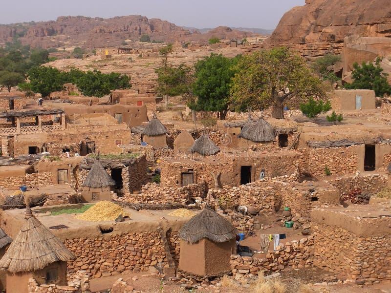 Village de Dogon, Mali photographie stock