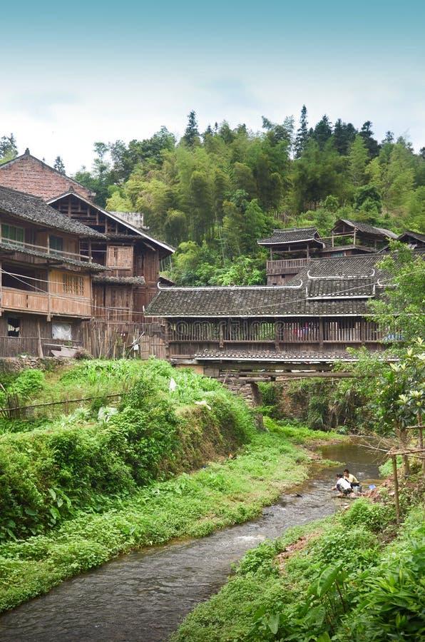 Village de Dong Minority en Chine photos stock