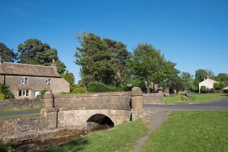 Village de Downham en Lancashire photos libres de droits