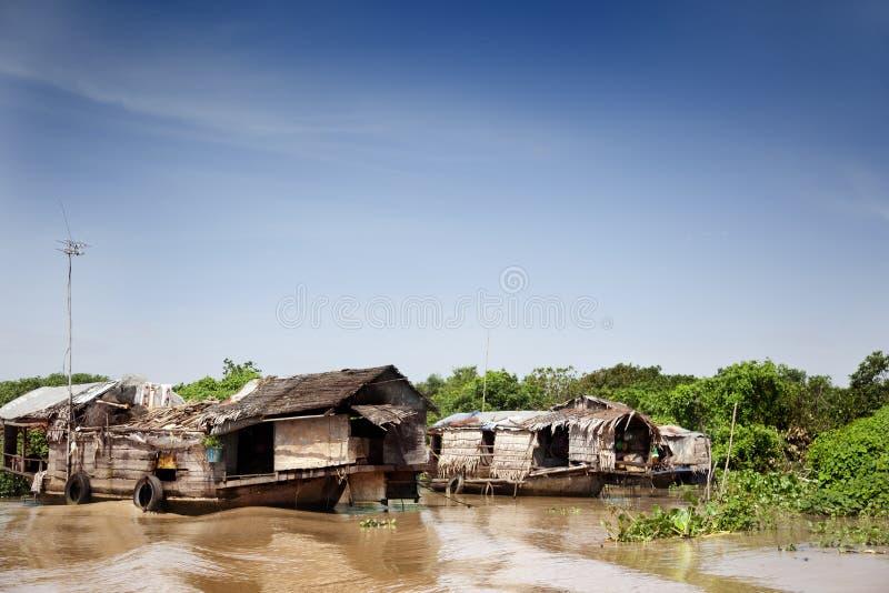 Village de flottement images stock