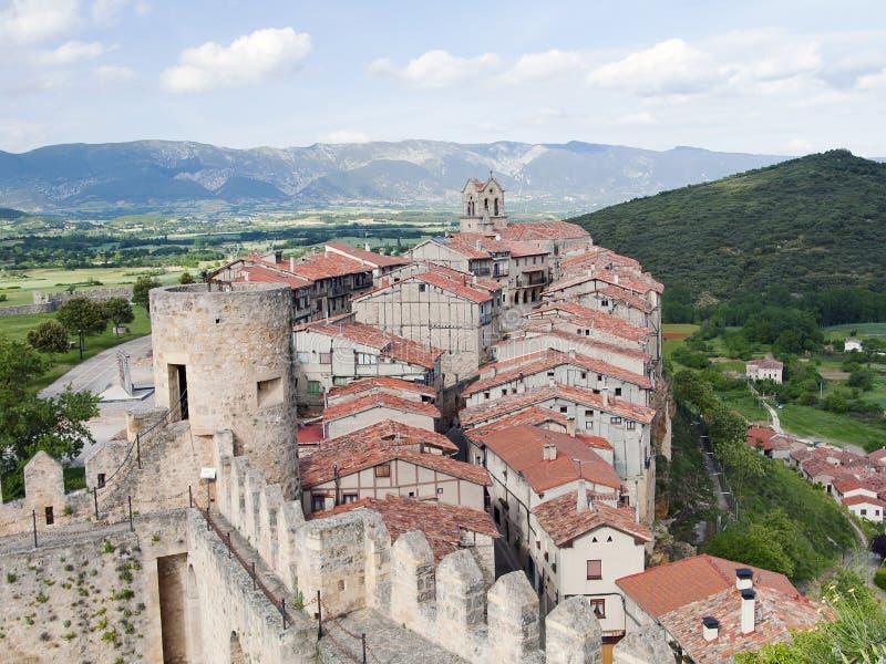 Village de Frias (Burgos, Espagne) photos libres de droits