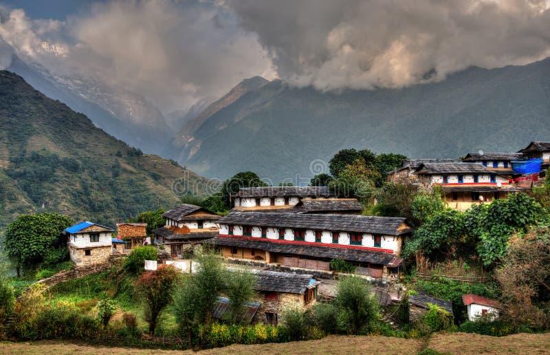 Village de Ghandruk au Népal image stock