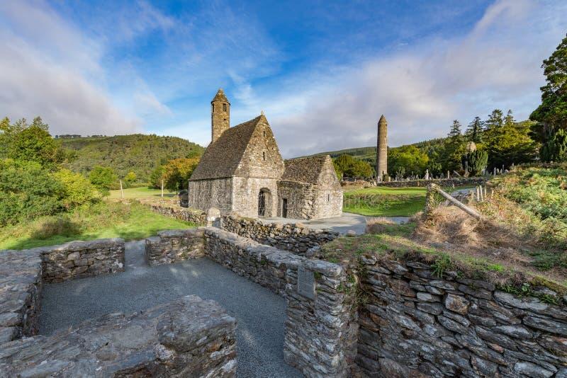 Village de Glendalough dans Wicklow, Irlande image libre de droits