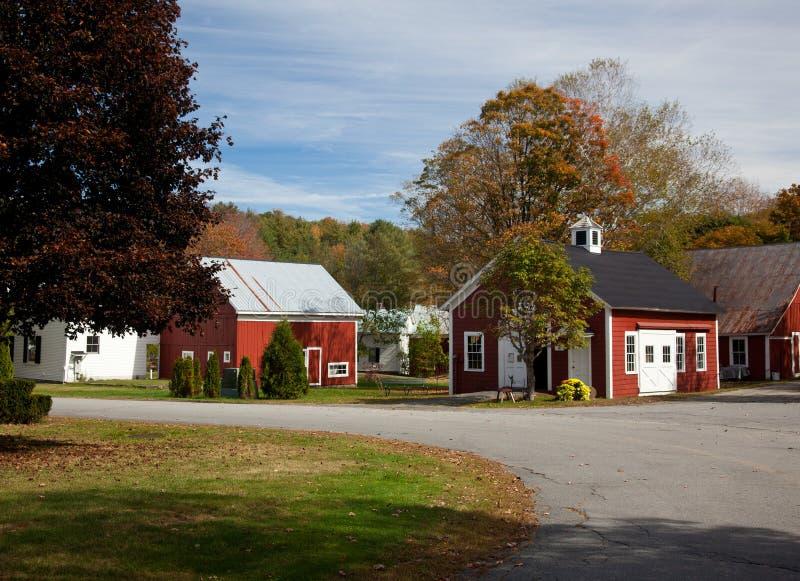 Village de Grafton dans l'automne photos stock