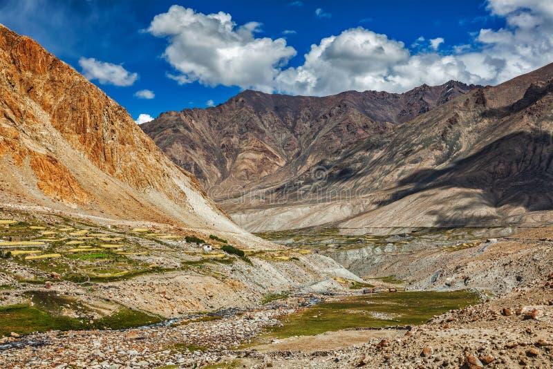 Village de Kardung en Himalaya photos libres de droits