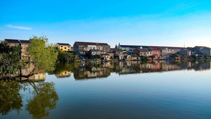 Village de l'eau photographie stock