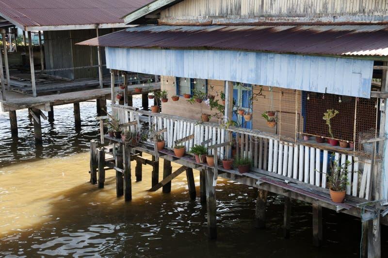Village de l'eau - Brunei photos stock