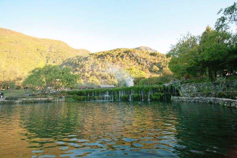 Village de l'eau de jade de Yunnan photo stock