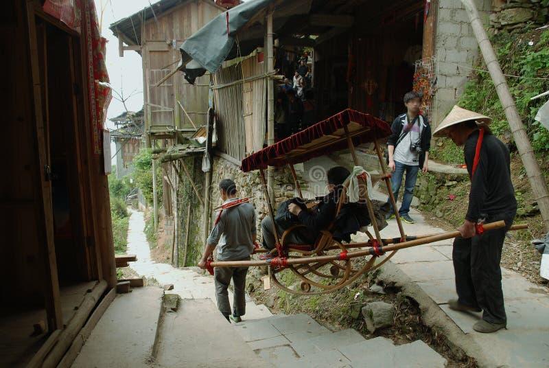Village de la glissière image libre de droits