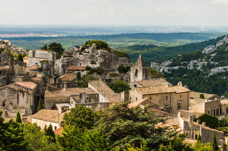 Village de Les Baux De Provence, France image libre de droits